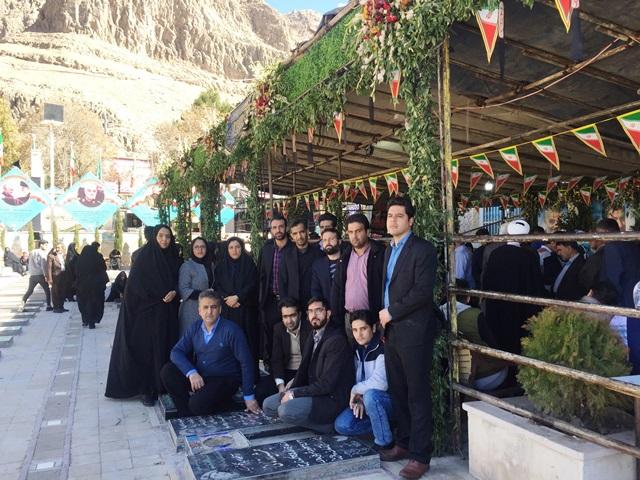 حضور کارکنان نیروگاه زرند در مراسم گرامیداشت شهید سپهبد سلیمانی
