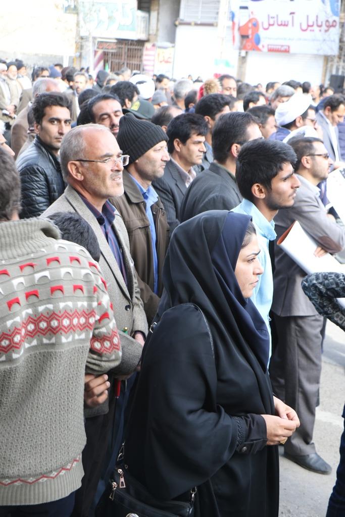 حضور کارکنان نیروگاه زرند در راهپیمایی 22 بهمن
