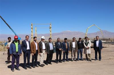 بازدید مهندس سام ایزدی مدیرعامل نیروگاه زرند از پروژه نیروگاه سیکل ترکیبی جدید